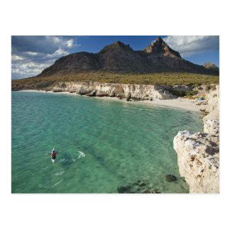Carte Postale Kayaker de mer sur le golfe de Californie chez