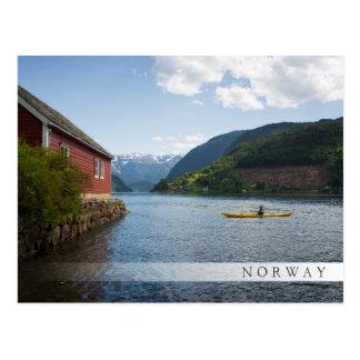 Carte Postale Kayaking le Hardangerfjord en Norvège