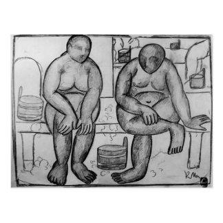 Carte Postale Kazimir Malevich- dans les bains