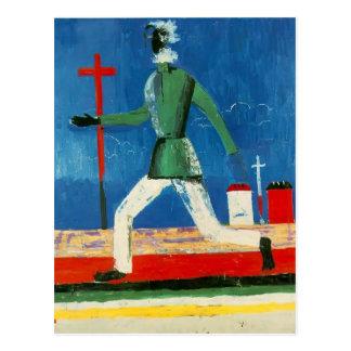 Carte Postale Kazimir Malevich- l'homme courant