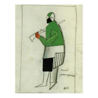 Carte Postale Kazimir Malevich- quelqu'un mauvais