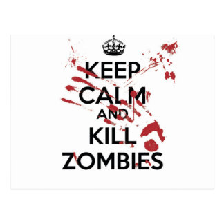 Carte Postale Keep Calm and Kill Zombies