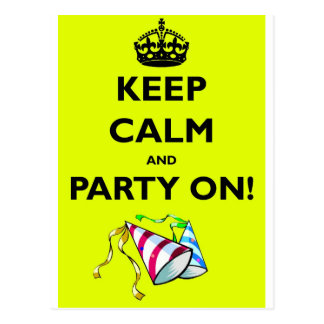 CARTE POSTALE KEEP-CALM-AND-PARTY-ON