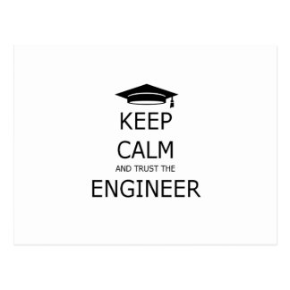 Carte Postale Keep calm and trust the engineer