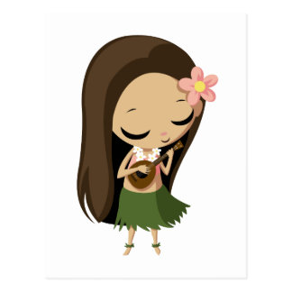 Carte Postale Keilana la fille de danse polynésienne
