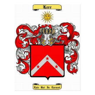 Carte Postale Kerr (écossais)