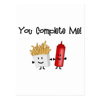 Carte Postale Ketchup et fritures !