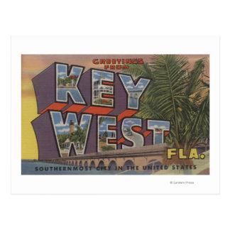 Carte Postale Key West, la Floride - grandes scènes de lettre