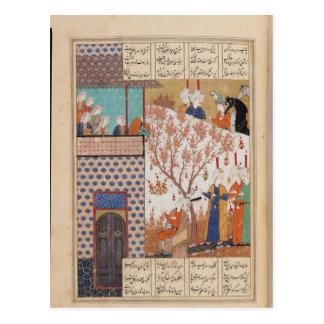 Carte Postale Khosro avant le palais de Shirin