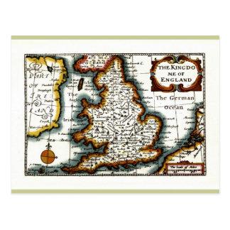 Carte Postale Kingdome de carte/de drapeau de l'Angleterre