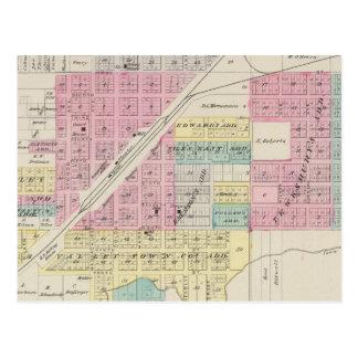 Carte Postale Kinsley, le comté d'Edwards, le Kansas