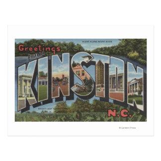Carte Postale Kinston, la Caroline du Nord - grandes scènes de