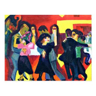 Carte Postale Kirchner - thé de tango ; Peinture d'Ernst