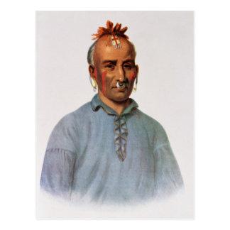 Carte Postale Kish-Kal-Wa, un chef de Shawnee