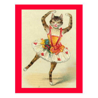 Carte Postale Kitty de danse vintage