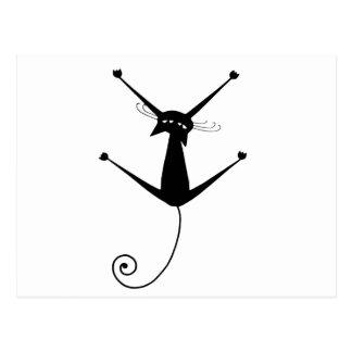 Carte Postale Kitty fantaisie noir 10