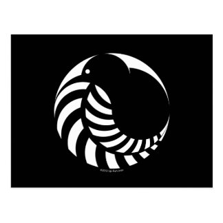 Carte Postale Kiwi de NZ/emblème fougère argentée