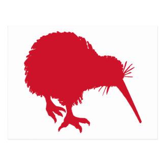 Carte Postale Kiwi rouge
