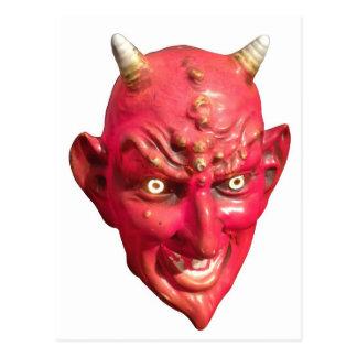 Carte Postale Klaxons d'enfer de démon de Satan de diable rouge