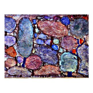 Carte Postale Klee - forêt colorée