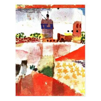 Carte Postale Klee - Hammamet avec la mosquée