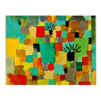 Carte Postale Klee - jardins tunisiens du sud