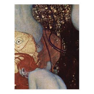 Carte Postale Klimt, poisson rouge Espa de Gustav Goldfische ?