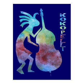 Carte Postale Kokopelli joue la basse