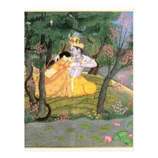 Carte Postale Krishna et Radha