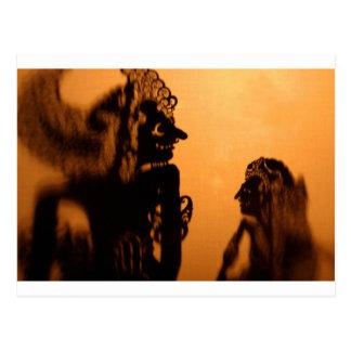 Carte Postale Kulit de Wayang de marionnettes d'ombre