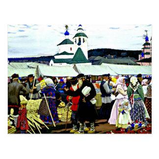 Carte Postale Kustodiev - à la foire
