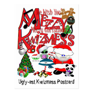Carte Postale Kwizmess laid