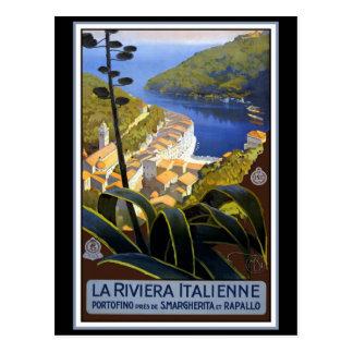 """Carte Postale """"La affiche vintage de voyage de la Riviera"""
