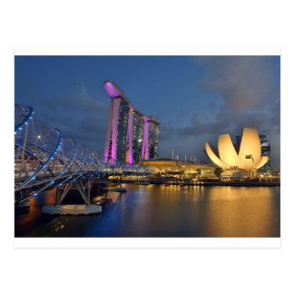 Carte Postale La baie de marina ponce l'hôtel de luxe Singapour
