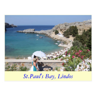 Carte Postale La baie de St Paul, Lindos