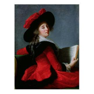 Carte Postale La Baronne de Crussol, 1785