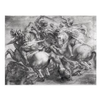Carte Postale La bataille d'Anghiari après Leonardo da Vinci