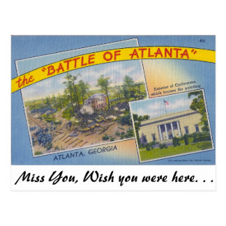 Carte Postale La bataille d'Atlanta
