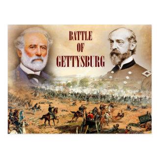 Carte Postale La bataille de Gettysburg avec Lee et Meade