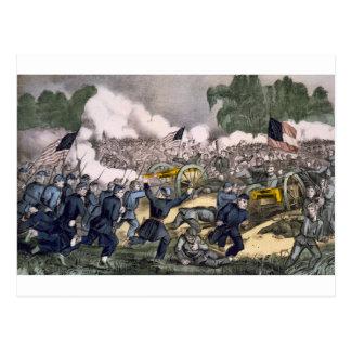 Carte Postale La bataille de Gettysburg, PA. 3 juillet D. 1863
