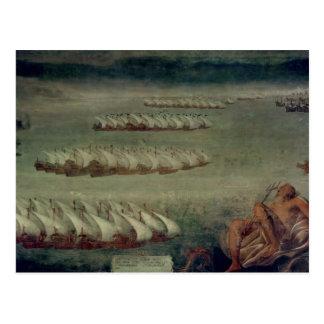 Carte Postale La bataille de Lepanto, le 7 octobre 1571