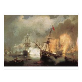 Carte Postale La bataille de Navarino par Ivan Aivazovsky