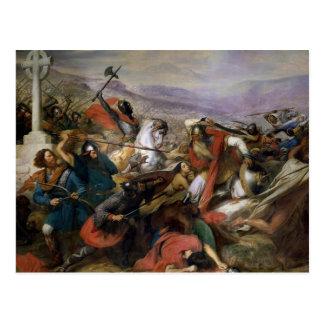 Carte Postale La bataille de Poitiers, gagnée par Charles Martel