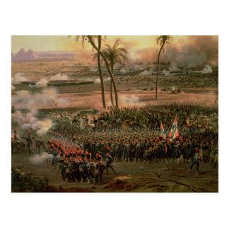 Carte Postale La bataille des pyramides, le 21 juillet 1798,