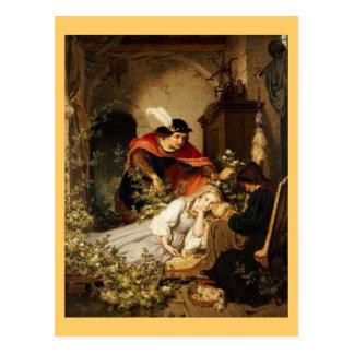 Carte Postale La beauté de sommeil de prince Leans Toward