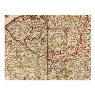 Carte Postale La Belgique et le Luxembourg