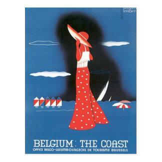 Carte Postale La Belgique vintage la côte