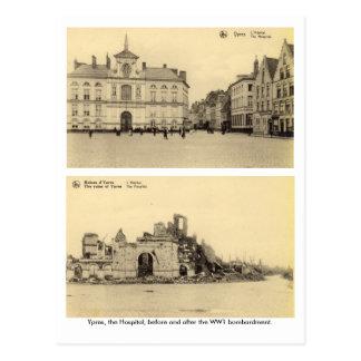 Carte Postale La Belgique, Ypres - bombardement WW1