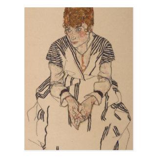 Carte Postale La belle-soeur de l'artiste d'Egon Schiele-