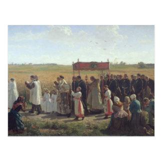 Carte Postale La bénédiction du blé dans l'Artois, 1857